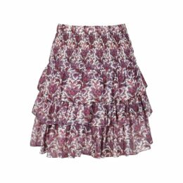 Isabel Marant Nukia Printed Chiffon Skirt