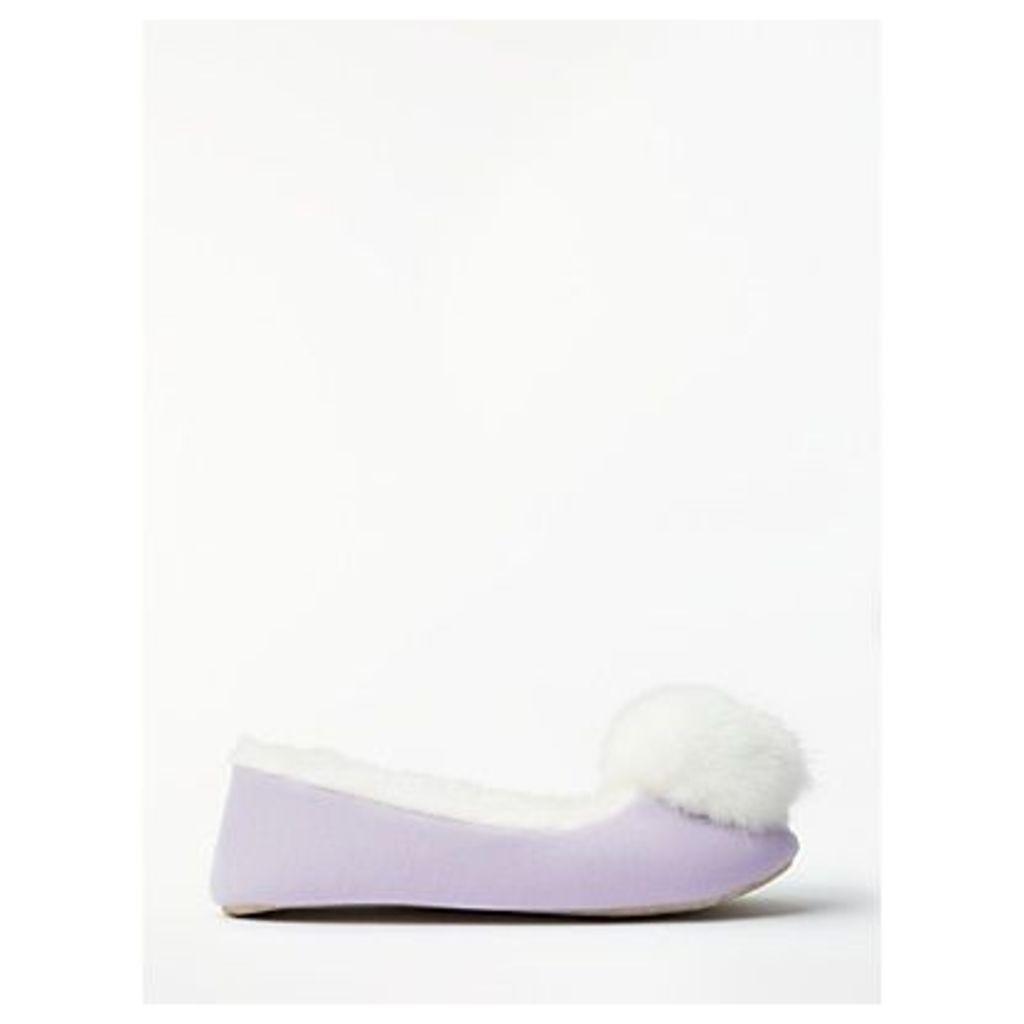 John Lewis & Partners Pom Pom Ballet Slippers