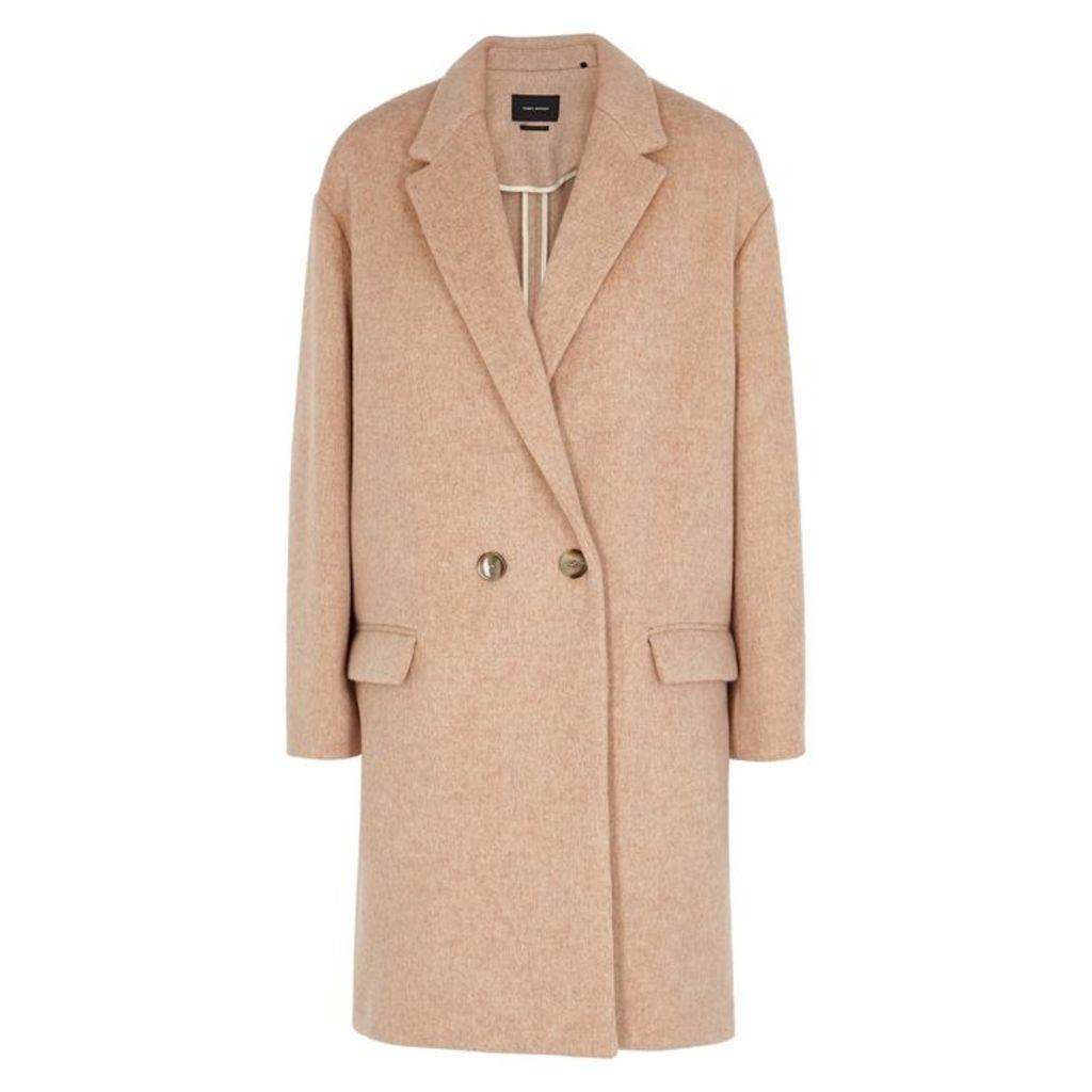 Isabel Marant Filipo Dusky Pink Wool-blend Coat