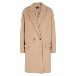 Isabel Marant Filipo Dusky Pink Wool-blend Coat
