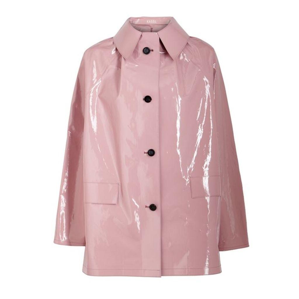KASSL Pink Coated Cotton-blend Coat