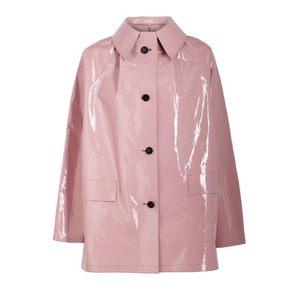 KASSL Pink Coated Cotton-blend Coat