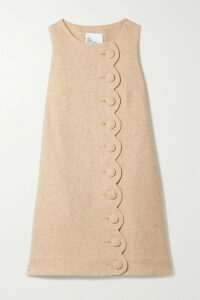 Victoria, Victoria Beckham - Plissé-trimmed Crepe Mini Dress - Black