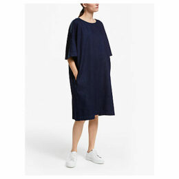 Kin Denim Side Stripe Dress, Indigo