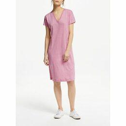 Winser London V-Neck Linen T-Shirt Dress