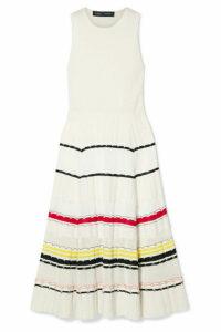 Proenza Schouler - Striped Stretch-knit Midi Dress - Cream