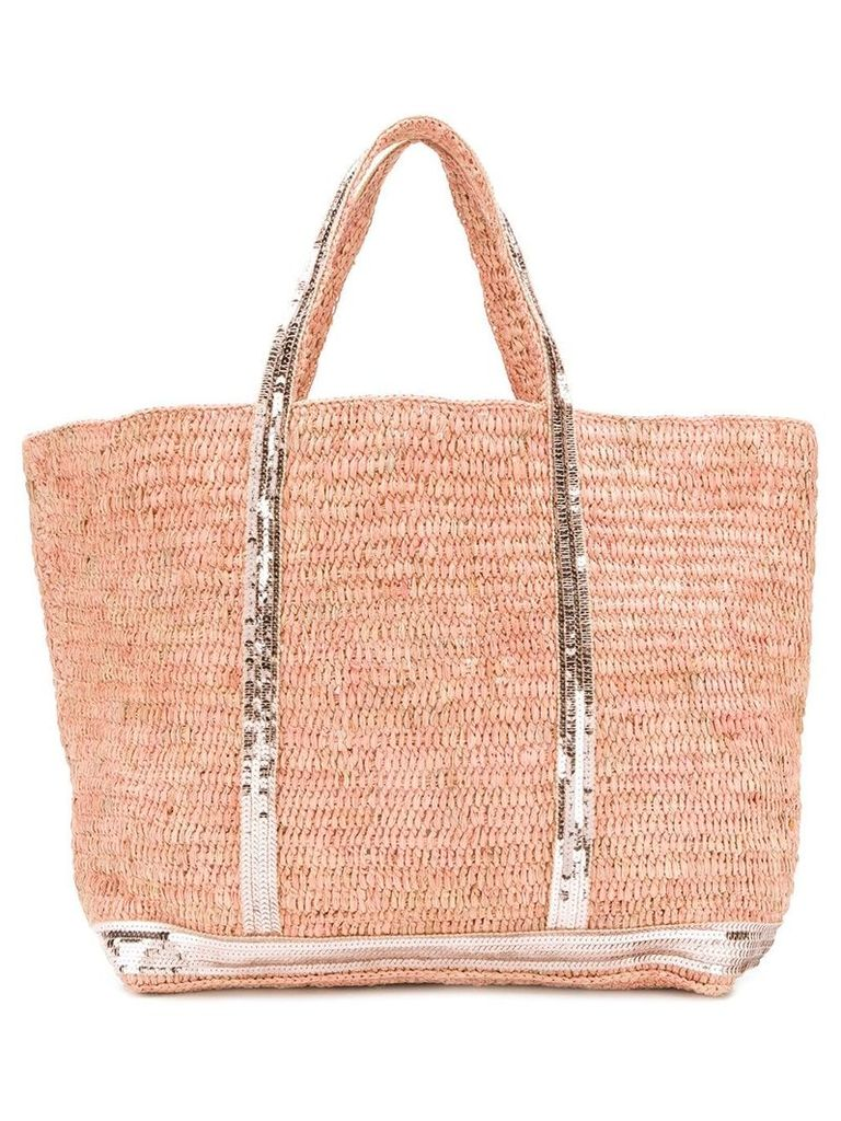 Vanessa Bruno large woven tote - Pink