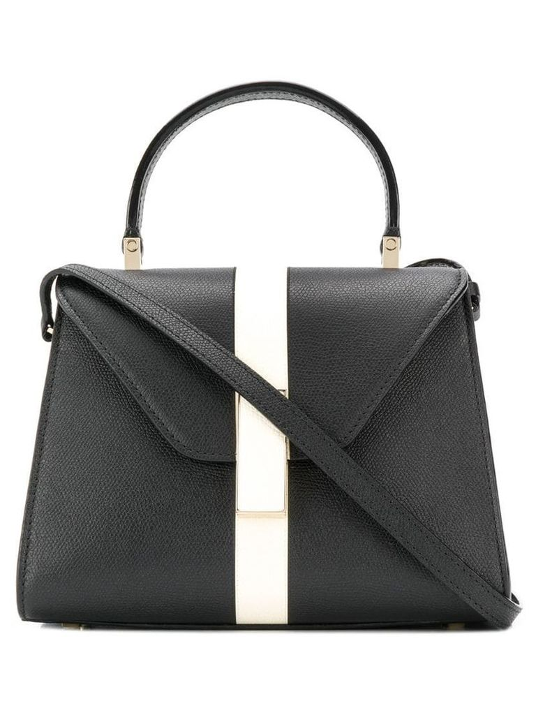 Valextra iside micro grained tote - Black