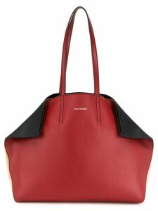 Alexander McQueen fold-in tote bag - Red