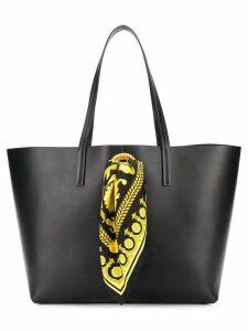 Versace Baroque scarf tote bag - Black