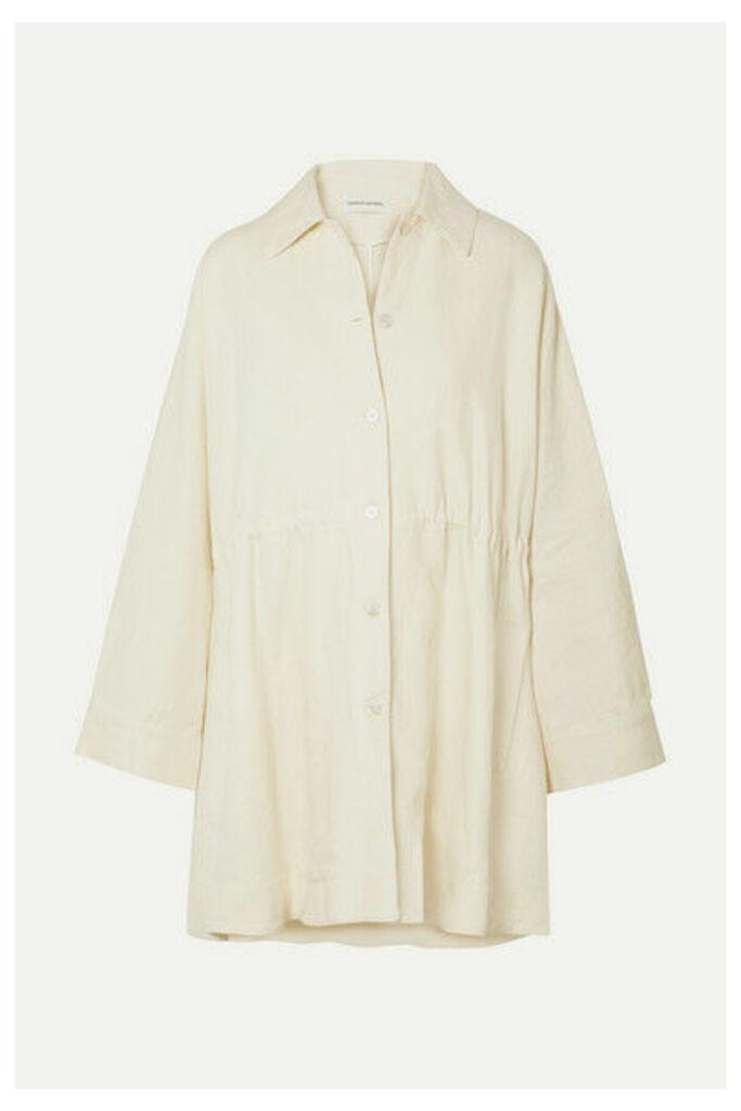 Mansur Gavriel - Oversized Linen Coat - Cream