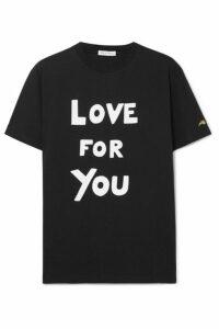 Bella Freud - Printed Cotton-jersey T-shirt - Black
