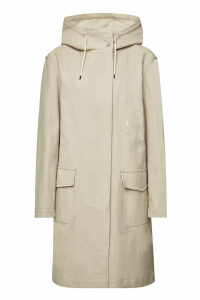 Closed Cotton Hooded Trench Coat