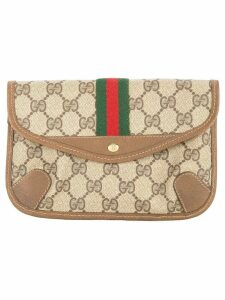 Gucci Pre-Owned GUCCI Shelly line line pouch - Brown