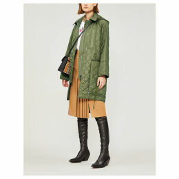 Coleraine quilted shell coat