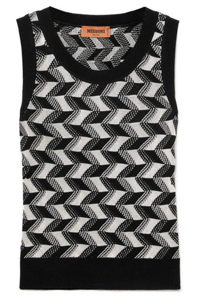 Missoni - Arrow Wool-blend Tank - Black
