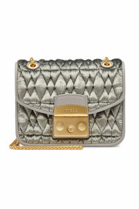 Furla Metropolis Mini Crossbody Bag with Silk and Leather