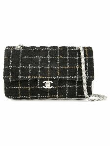 Chanel Pre-Owned double flap chain shoulder bag - Black