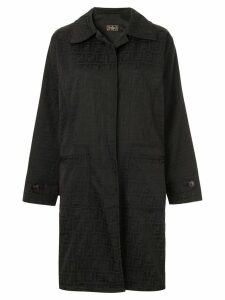 Fendi Pre-Owned long sleeve coat jacket - Black