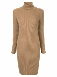 Fendi Pre-Owned long sleeve one piece dress - Brown