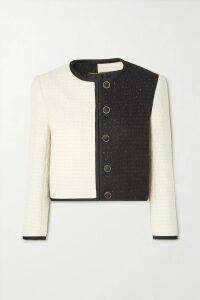 Tibi - Hani Convertible Check-paneled Cotton-twill Trench Coat - Beige