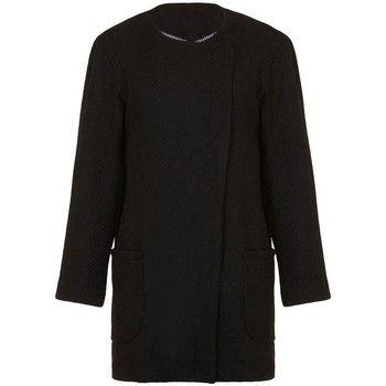 Anastasia  - Womens Black Winter Textured Unlined  Coat  women's Coat in Black
