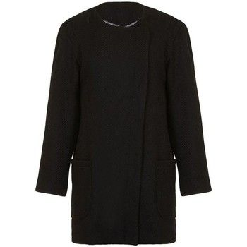 Anastasia  - Womens Black Winter Textured Unlined  Coat  women's Coat in Black