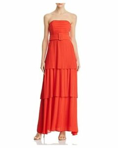 Fame and Partners The Whittier Strapless Pleated Maxi Dress