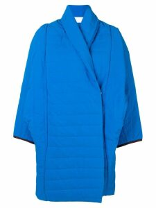 Reality Studio padded cocoon coat - Blue