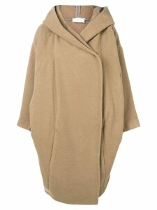 Reality Studio oversized hooded coat - Neutrals