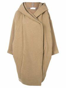 Reality Studio oversized hooded coat - Neutrals