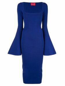 Solace London Serra bell sleeve dress - Purple