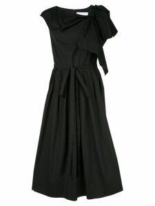 Carolina Herrera flared bow dress - Black