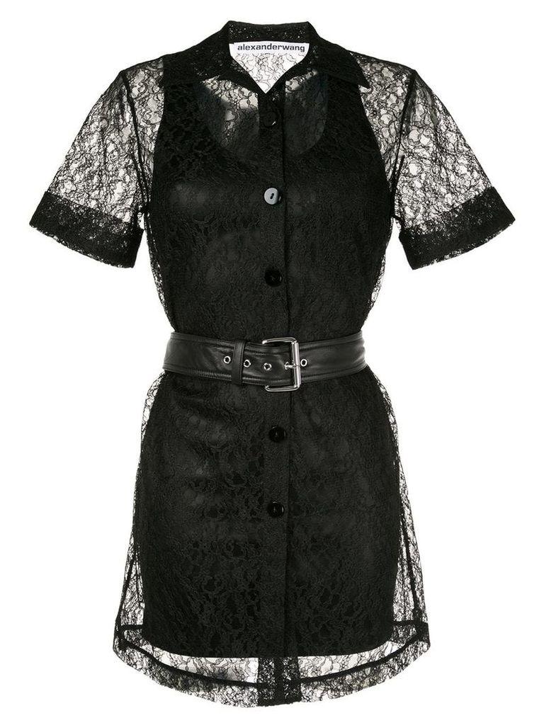 Alexander Wang short lace dress - Black
