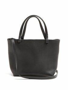 The Row - Park Grained Leather Cross Body Bag - Womens - Black
