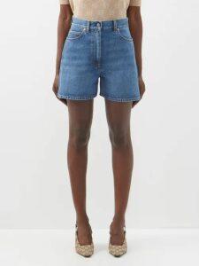 Rhode - Valentina Floral Print Cotton Wrap Blouse - Womens - Ivory Multi