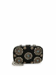 Floral Bead Embellished Convertible Clutch