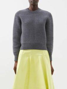 Masscob - Reina Leopard Brocade Silk Blend Blouse - Womens - Gold