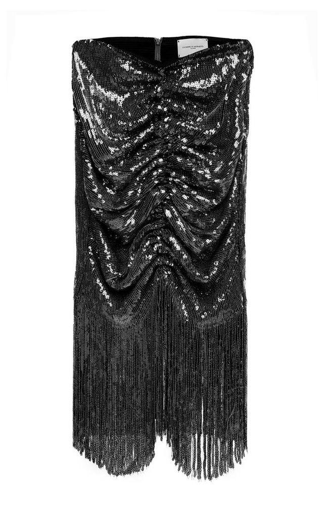 Giuseppe di Morabito Sequin-embellished Draped Skirt