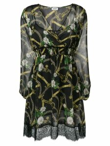 Liu Jo chain print mini dress - Black