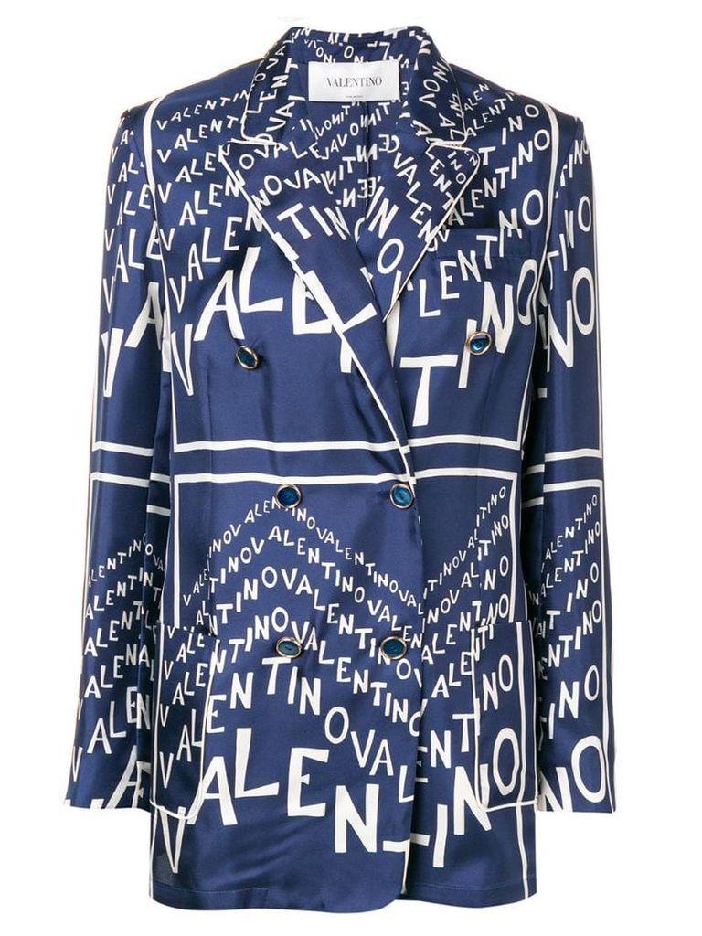 Valentino logo motif blazer - Blue