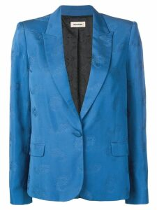 Zadig & Voltaire Victor paisley blazer - Blue