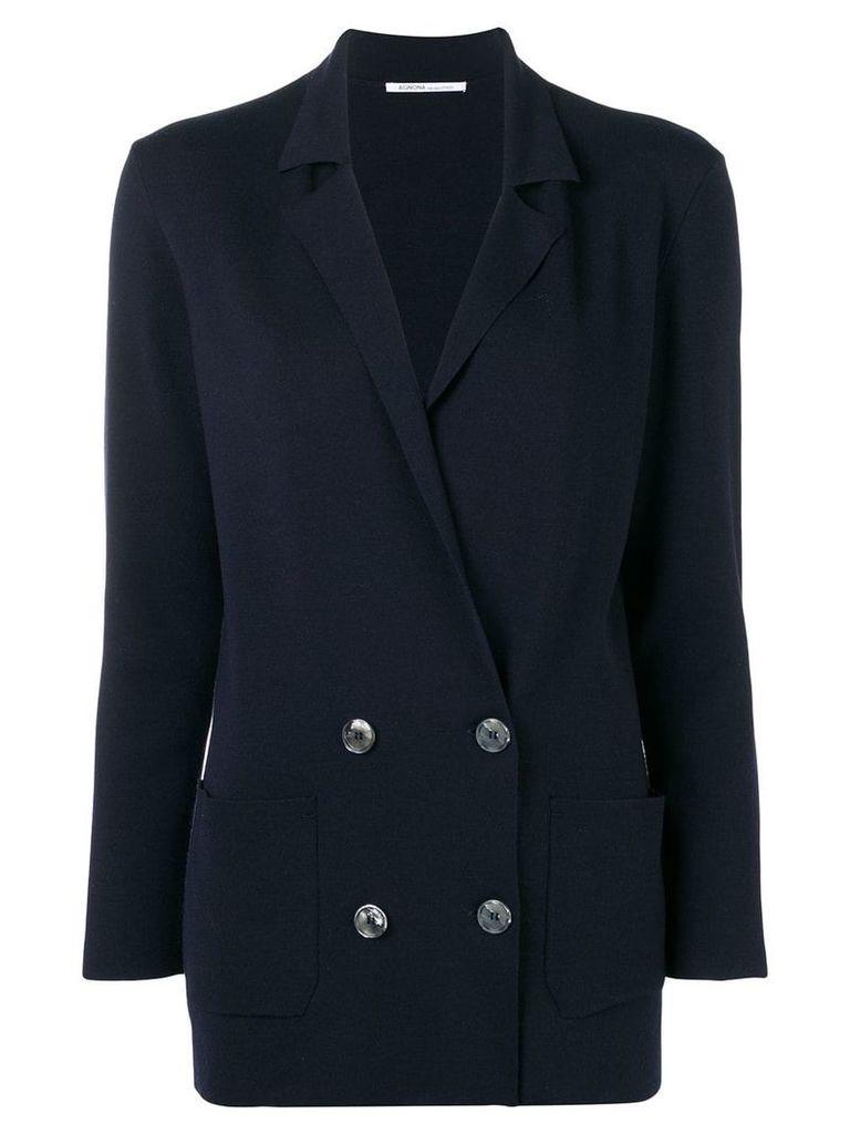 Agnona double breasted blazer - Blue