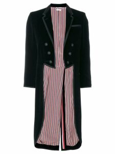 Thom Browne Tonal Grosgrain-tipped Tailcoat In Velvet - Black