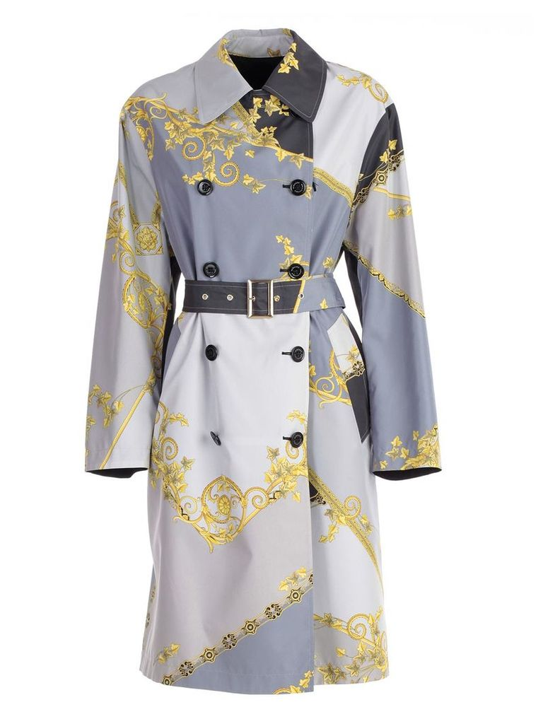 Versace Collection Signature Printed Trench