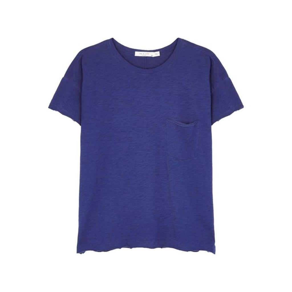Rag & Bone Blue Slubbed Pima Cotton T-shirt