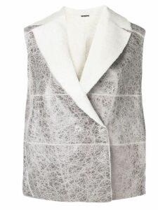 Fabiana Filippi shearling waistcoat - Grey