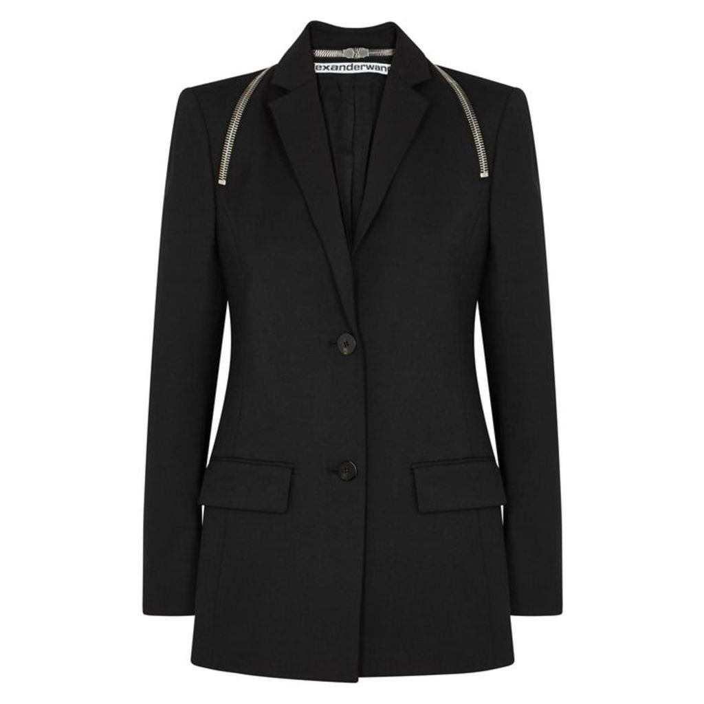 Alexander Wang Black Zip-embellished Blazer