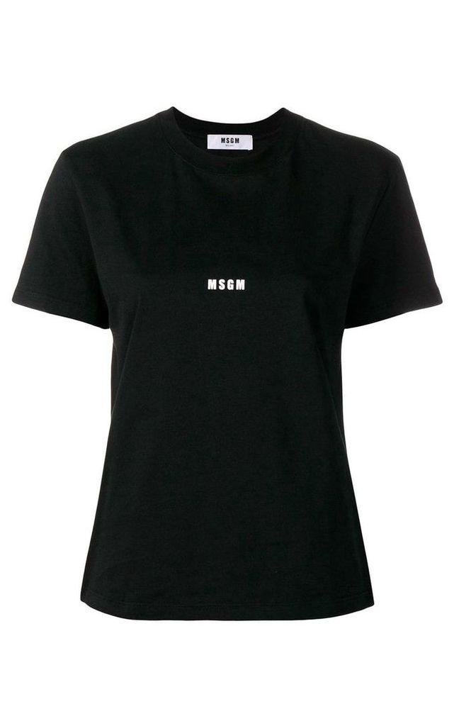 MSGM Logo-print Cotton-jersey T-shirt