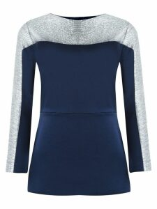 Gloria Coelho panelled dress - Blue